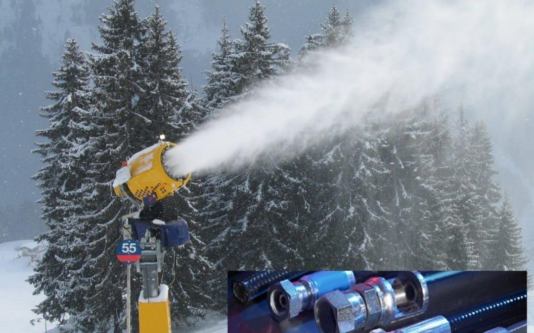 Flexibles canons à neige