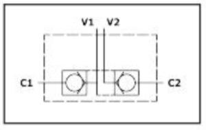 Clapet double pilote fg 3.8 300 bar 30 L.min 1 SCHEMA
