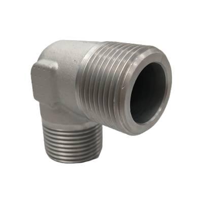 Adaptateur coude 90° mâle BSP x mâle gaz conique