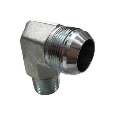 Adaptateur coude 90° male JIC x male gaz conique