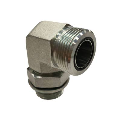 Adaptateur coude 90° mâle ORFS x mâle gaz CYL + joint OR