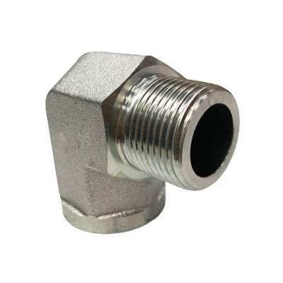 Adaptateur coude 90° mâle gaz conique x femelle gaz