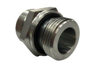 Adaptateur union mâle ORFS x male gaz CYL + Joint or